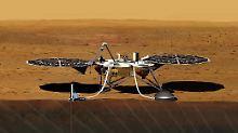"""Mit einem Messgerät der Deutschen Gesellschaft für Luft- und Raumfahrt kann """"InSight"""" weit unter die Mars-Oberfläche vordringen."""