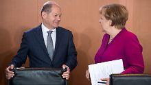 Finanzminister Olaf Scholz stellte seinen Haushaltsentwurf im Kabinett vor.
