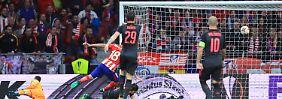 Diego Costa trifft zum 1:0 vonAtletico Madrid.