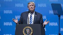 Heikle Worte vor US-Waffenfans: Donald Trump provoziert Paris