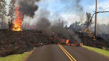 Vulkanausbruch auf Hawaii: Menschen flüchten vor Lavaströmen