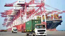 Die chinesischen Exporte in die USA überstiegen im April die US-Einfuhren nach China um 22,2 Milliarden Dollar.
