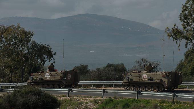 Israelische Truppen auf den Golanhöhen in Syrien.