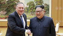 Vor Treffen mit Kim: Pompeo verspricht Nordkorea Wohlstand