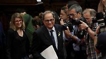 Katalanischer Separatist: Torra fällt im ersten Wahlgang durch