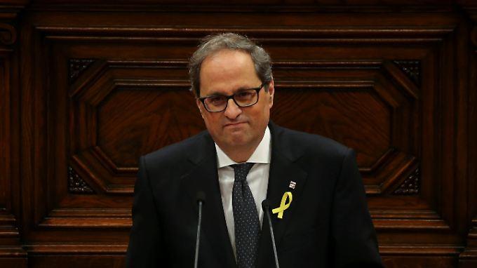 Carles Puigdemont hatte Quim Torra als seinen Nachfolger vorgeschlagen - mit Erfolg.