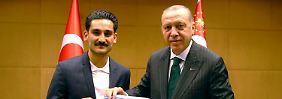 Neulich in London: Ilkay Gündoğan und Recep Tayyip Erdoğan.