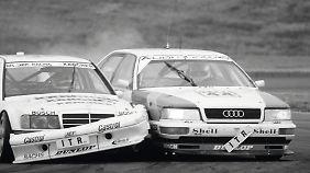 In den Läufen der DTM 1990 und 1991 schubste Audi selbst Mercedes aus dem Rennen.