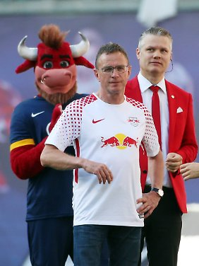 Kein neues Angebot: Ralf Rangnick, Mitte.