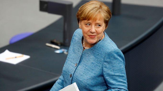 Unbeeindruckt von den Attacken aus der Opposition: Regierungschefin Merkel.