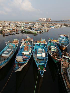 Hodeida ist eine wichtige Hafenstadt im Jemen.