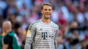 Happy - Manuel Neuer steht wieder im Aufgebot der Bayern.