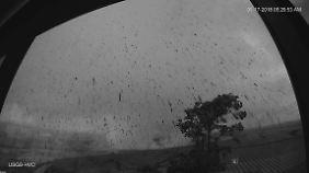 Ascheregen über Hawaii, nach dem Ausbruch des Kilauea.