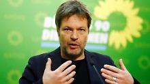 Robert Habeck ist (noch) Umweltminister in Schleswig-Holstein und Bundesvorsitzender der Grünen.