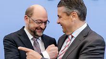 """""""Ein Meisterstück geschafft"""": Schulz und Gabriel versöhnen sich"""