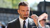 ..., Fußballstar David Beckham und ...