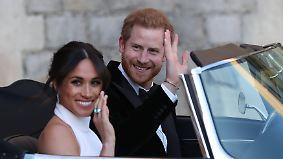 Feurige Predigt, Party mit 200 Gästen: Harry und Meghan begeistern mit emotionaler Hochzeit