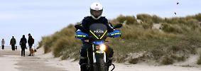 """... das BMW-E-Krad """"Zero FX"""" leise und umweltschonend Streife in geschützten Gebieten."""