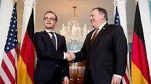 Antrittsbesuch in Washington: Maas: Keinerlei Annäherung bei Iran-Frage