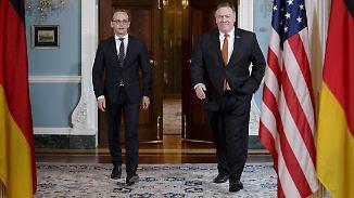 Antrittsbesuch in den USA: Maas und Pompeo finden keinen Kompromiss in Iran-Frage