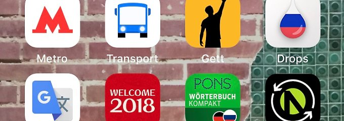 WM-Countdown (21): Die wichtigsten Apps für Russland-Reisende