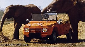 In Afrika fuhr der Méhari als Safari-Fahrzeug.