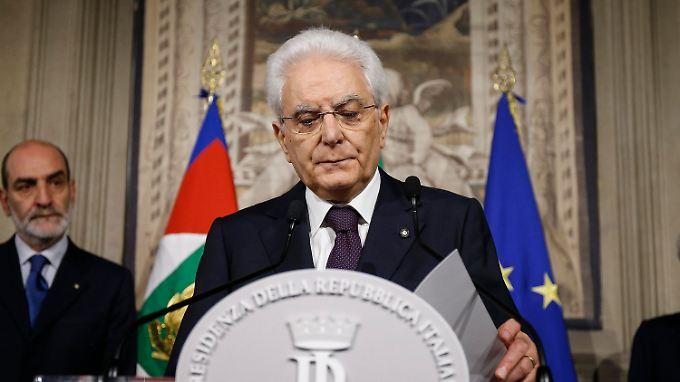 Italiens Präsident Mattarella verhindert einen eurofeindlichen Wirtschaftsminister