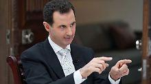 """""""Gebiete mit Gewalt befreien"""": Assad droht US-Alliierten mit Militärschlag"""