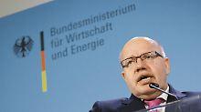 """Wirtschaftsminister Altmaier will sich """"nicht bluffen lassen""""."""