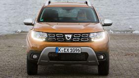 Der Unterfahrschutz des Dacia Duster ist nur Attrappe.
