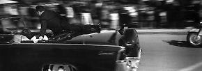 Der Präsident, zu dem die Nation aufblickte, stirbt im Kugelhagel.