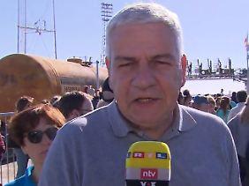 Für n-tv berichtet Reporter Carsten Lueb aus Baikonur.