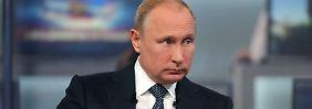 """""""Über zwei Millionen Fragen"""": Putin gewährt den Bürgern TV-Audienz"""