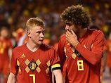 Zwei der belgischen Anwärter auf die Fußball-Krone: Kevin de Bruyne und Marouane Fellaini.