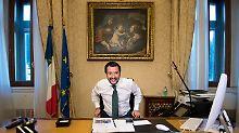 """Italiens neuer Innenminister Salvini will nicht mehr, dass sein Land das """"Flüchtlingslager Europas"""" ist."""