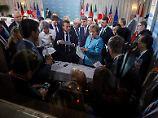 """Nach Ausstieg von Trump: Merkel nennt Gipfel-Eklat """"deprimierend"""""""
