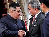 Vorbereitung auf Trump-Treffen: Kim Jong Un trifft in Singapur ein