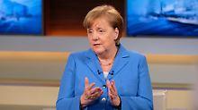 """Kanzlerin bei Anne Will: Merkel: """"Das ist schon viel für mich"""""""