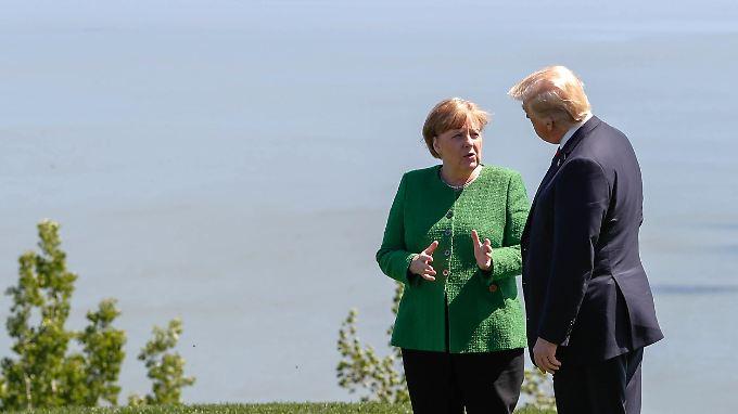 Merkel und Trump beim G7-Gipfel in Kanada.