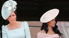 Lächeln, winken, Flagge zeigen: Kate und Meghan im royalen Alltag