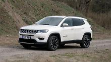 Der neue Jeep Compass setzt auf vertraute Design-Merkmale, die Größe entspricht fast exakt dem des Vorgängers.