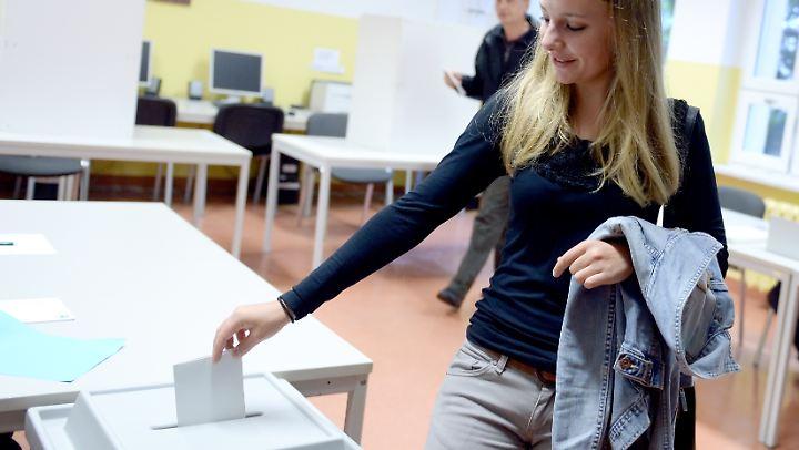 In vielen Bundesländern dürfen 16- und 17-Jährige schon wählen gehen.