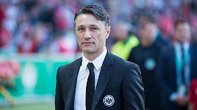 Hier noch im Anzug der Eintracht aus Frankfurt - der neue Bayern-Trainer Niko Kovac.