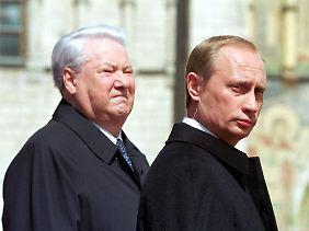 Von der Politik seines Vorgängers Boris Jelzin möchte sich Putin deutlich abgrenzen.