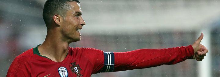Drei Tore bei drei Turnieren - und trotzdem kann Cristiano Ronaldo Ungewöhnliches schaffen.