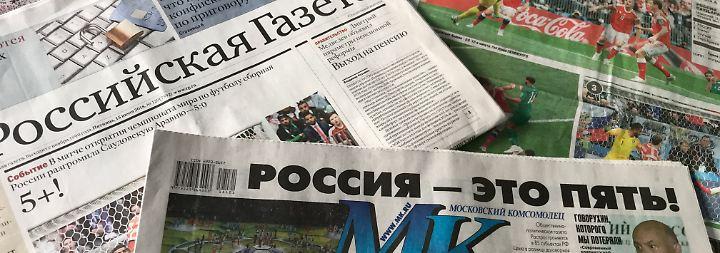 Russlands Presse kann überraschend Positives vermelden.