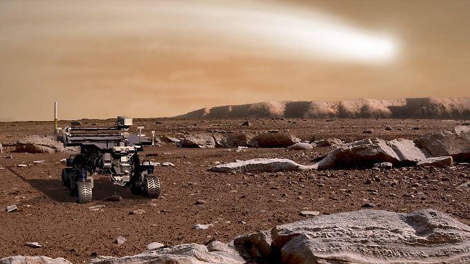 """Rover """"Opportunity"""" rollt schon seit fast 15 Jahren über den Mars."""