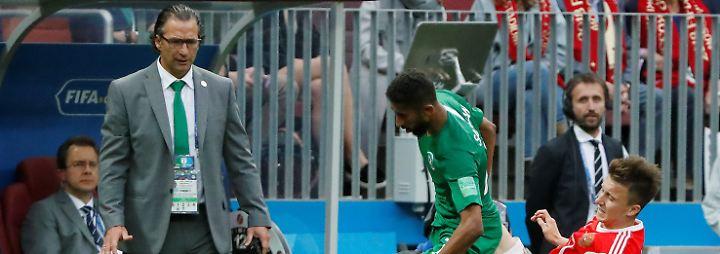 Das Auftaktspiel gegen Gastgeber Russland hatte sich das Team von Saudi-Arabien anders vorgestellt.