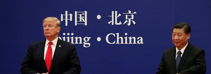 Donald Trump im November bei seinem offiziellen Besuch bei Präsident Xi in Peking.