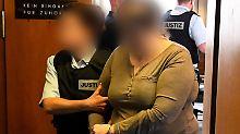 Die angeklagte Mutter des Jungen an einem Prozesstag in der vergangenen Woche.